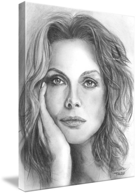 Pencil Drawings of Celebrity Michelle Pfeiffer Face