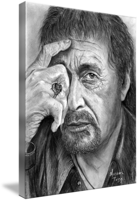 Pencil Drawing of celebrity the Al Pacino face