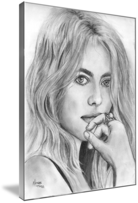 Pencil drawing of Celebrity Dakota Fanning Face
