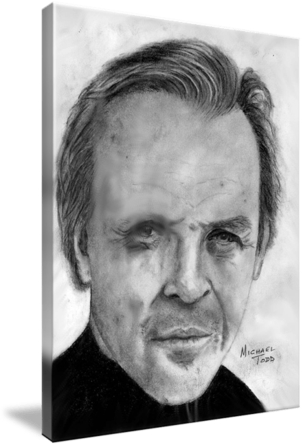 Graphite Drawing of Celebrity Anthony Hopkins Face