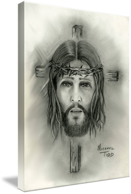 Pencil drawing of Jesus Christ