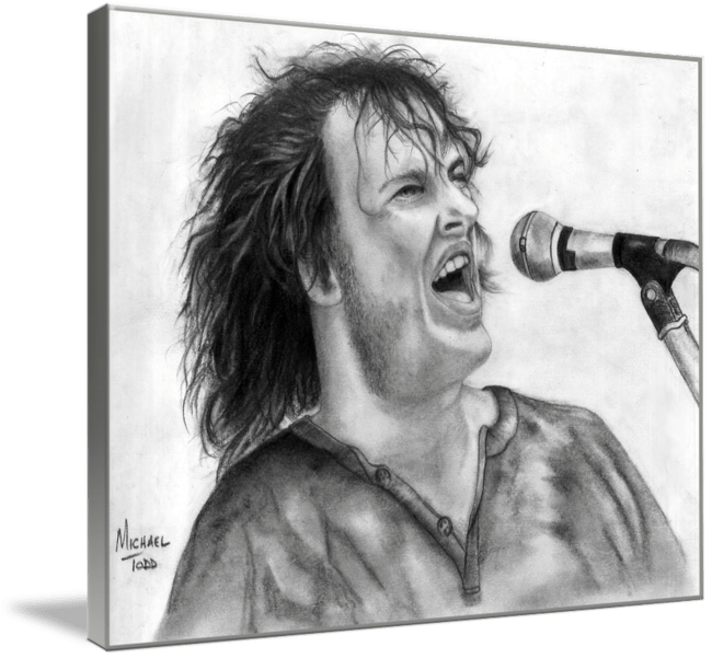Pencil drawing of Celebrity Joe Cocker Face