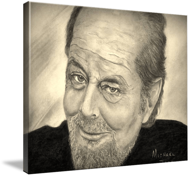 Pencil drawing of Celebrity Jack Nicholson Face