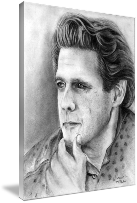 Pencil drawing of Celebrity Glenn Frey Face