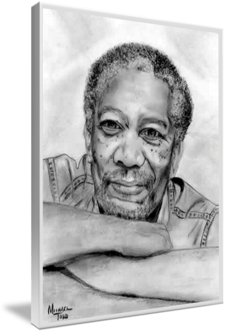 Pencil drawing of Celebrity Morgan Freeman Face