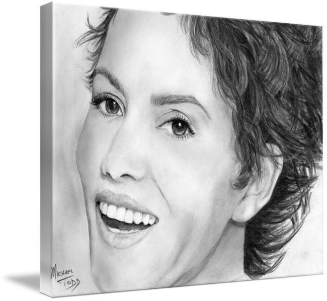 Pencil drawing of Celebrity Hallie Berry Face