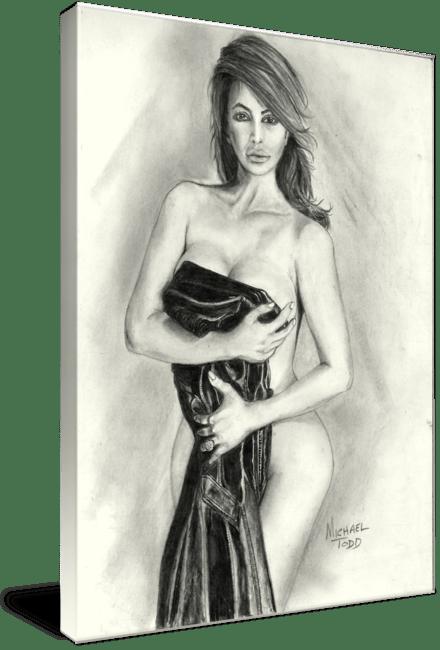 Pencil drawing of Celebrity Kim Kardasian Face