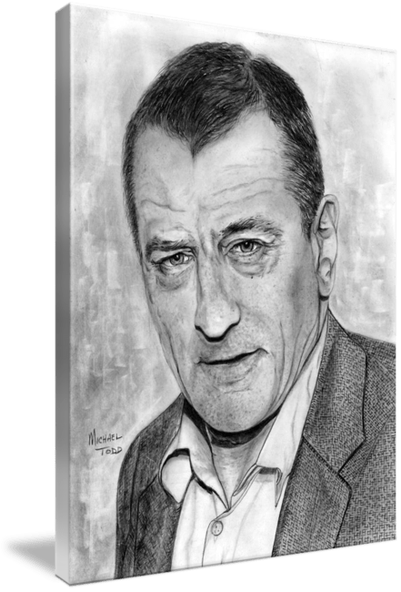 Pencil drawing of Celebrity Robert De Niro Face