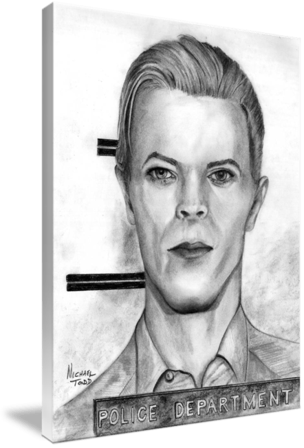 Graphite Drawing of Celebrity David Bowie Face