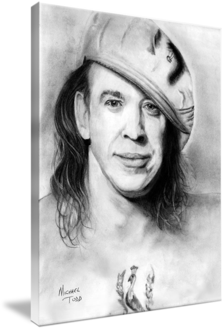 Pencil drawing of Celebrity Stevie Ray Vaughn Face