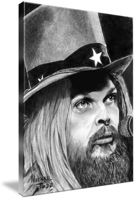Pencil drawing of Celebrity Leon Russell Face