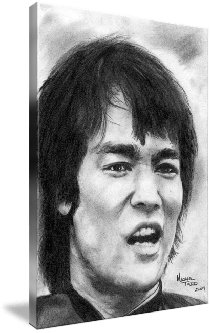 Pencil drawing of Celebrity Bruce Lee Face