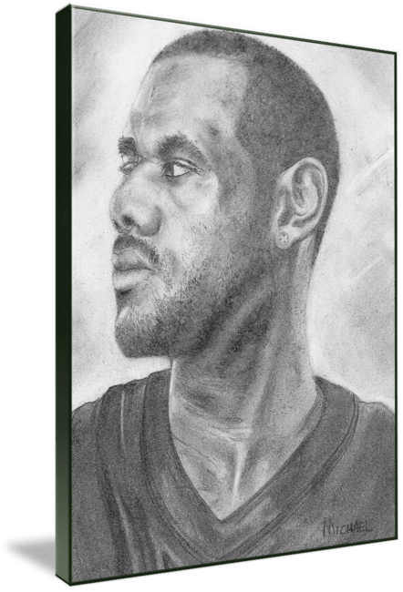 Pencil drawing of Celebrity Labron James Face